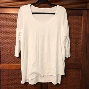 J. Jill White Layered TShirt Size Large